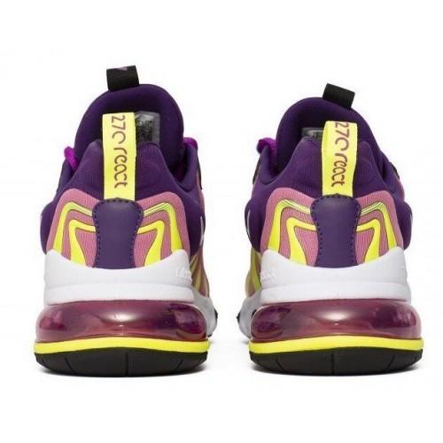 "Женские кроссовки Nike Air Max 270 React ENG ""Eggplant White"""
